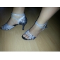 anpassade mousserande glitter med zebra print skor dansföreställning