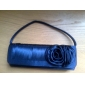 Satin Shell With Flower Evening Handbags More Colors Available