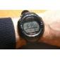 Reloj Pulsera de Energía Solar Impermeable, con Cronógrafo, Alarma y Luz EL (negro)