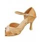 Chaussures de danse (Or) - Non personnalisable - Talon aiguille - Satin - Salle de bal/Danse latine/Salsa