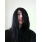 capless longue qualité supérieure de grade synthétique noire perruque fête costumée