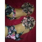 Leatherette Party/Evening Wedge Heel Sandals With Flower (More Colors)