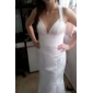 Trumpet/Mermaid Plus Sizes Wedding Dress - Champagne Court Train Straps Lace/Chiffon