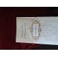 regale di lusso piegato inviti matrimonio in avorio (set di 50)