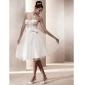 웨딩 드레스 - 아이보리(색상은 모니터에 따라 다를 수 있음) A 라인/프린세스 무릎 길이 스윗하트 튤 플러스 사이즈