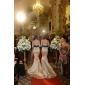 Lanting noiva trompete / sereia petite / mais tamanhos de casamento vestido-sweep / escova de trem sem alças de cetim