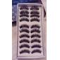10 par svartfiber ögonfransar lösögonfransar