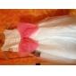 Lanting Sposa Linea-A / Da principessa Lungo Abito da damigella d'onore bambina - Raso / Tulle Senza maniche Stondata conFiocco (fiocchi)