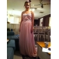 Prom/Formal Evening Dress - Silver Plus Sizes A-line Strapless/Sweetheart Sweep/Brush Train Chiffon