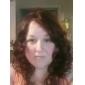 Kappenlose lange 100 % Echthaar Perücke, Natürlicher Look, lockiges Haar, 5 Farben zur Auswahl