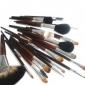 32pcs professionell gethår svart handtag makeup borste med fritt fall