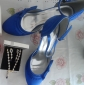Satin Stiletto Pumps With Bow For Wedding (More Colors)
