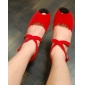 Red Fashion Fabric Upper Dance Shoes Ballroom Latin Shoes for Women