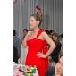 Formal Evening/Military Ball Dress - Ruby Plus Sizes Sheath/Column One Shoulder Court Train Chiffon