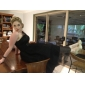 TS Couture 프롬 포멀 이브닝 웨딩파티 드레스 - 빈티지 스타일 1950년대 셀러브리티 스타일 A-라인 공주 원 숄더 발목 길이 튤 와 드레이핑 허리끈/리본 옆면 드레이핑