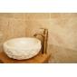 Contemporain Vasque Valve en céramique Mitigeur un trou with Laiton Antique Robinet lavabo