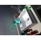 Kran til håndvask med enkelt håndtak til badeværelset med kromfinish, fargeskiftende LED-lys