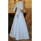 Robe de Mariée en Satin à Une Bretelle, Coupe Princessse