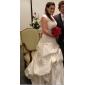 Ball Gown Plus Sizes Wedding Dress - Ivory Chapel Train Strapless Satin/Lace