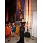 Evento Formal / Baile Militar / Festa de Gala Black-Tie Vestido - Brilho & Glitter / Elegante Sereia Canoa Cauda Escova Paetês com