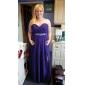 Formal Evening Dress - Royal Blue Plus Sizes Sheath/Column Strapless/Sweetheart Floor-length Chiffon/Stretch Satin