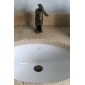 Antique Brass Pop Up Drain With Overflow (0567 -HY1039)