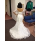 Trumpet/Mermaid Plus Sizes Wedding Dress - Ivory Sweep/Brush Train Sweetheart Lace