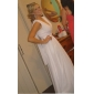 Formal Evening/Military Ball Dress - White Plus Sizes Sheath/Column V-neck Floor-length Chiffon