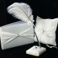 Classic Wedding Collection Set In White Satin (3 Pieces)