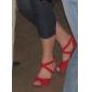 rouges de mode de tissu supérieure chaussures danse de salon des chaussures pour les femmes latino-