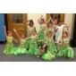 Kaksiosainen tanssipuku, vatsatanssi, housut, hihaton, sifonki, helmikoristeltu (värivalikoima)