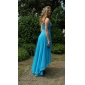 Prom / Formal Evening Dress - Open Back Plus Size / Petite A-line / Princess Strapless / Sweetheart Floor-length / Asymmetrical Chiffon