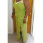 Vestido de Madrina - Uva Corte Recto Hasta el Suelo - Manga Larga Gasa Tallas grandes