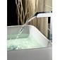 contemporánea cascada de cromo grifo del fregadero cuarto de baño acabado (de altura)