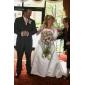 NYX - Abito da Sposa in Raso con Coprispalle