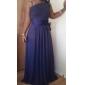Bridesmaid Dress Floor Length Chiffon Sheath Column One Shoulder Party Dress