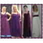 Bridesmaid Dress Floor Length Chiffon Sheath Column One Shoulder Empire Dress