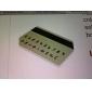 nouvelle mini carte de crédit minces solaires de puissance calculatrice de poche - vert armée