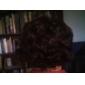 sintética peluca café oscuro corto y rizado pelo envoltura