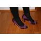 Satin Stiletto Heel peep toe med rhinestone bryllup sko (flere farver)