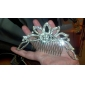 Alloy With Rhinestone And Pearl Bridal Comb