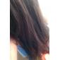 capless 긴 고온 와이어 갈색 자연 직선 머리 가발