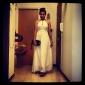 Women's Chiffon Halter Maxi Dress
