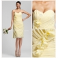 Knee-length Chiffon Bridesmaid Dress - Daffodil Plus Sizes Sheath/Column Sweetheart/Strapless
