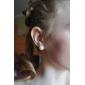 10.5-11mm AA White Freshwater Pearl Earring