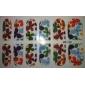 12PCS 3D Full-Cover Nail Art Stickers Cartoon Flower Series (No.2, couleurs assorties)