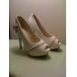 Superbe Toe Peep similicuir Stiletto Heel avec fermeture éclair Partie / Chaussures de soirée (plus de couleurs)
