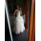 lanting mariée robe de bal de mariage petite / plus tailles robe-balayage / pinceau train bustier en tulle