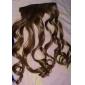 grampo em extensões do cabelo encaracolado sintéticas com 5 grampos - 6 cores disponíveis