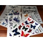 6 Pcs Butterfly and Rose Mixed Temporary Tattoo